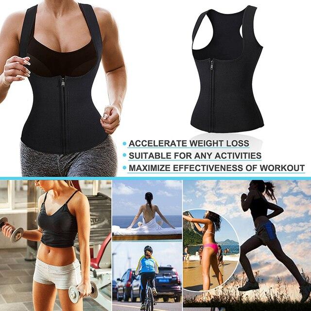 Postpartum Waist Trainer Belly Belt Fat Burning Weight Loss Workout Corset Women Sweat Body Slimming Vest Neoprene Body Shaper 3