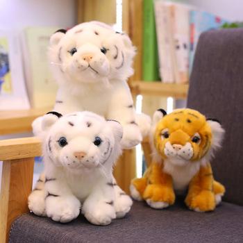Mini siedzi zabawkowe pluszowe tygrysy dla dzieci dzieci śliczne obsługiwane lalka zwierzę dzieci kreatywny prezent Home Decor prezent na boże narodzenie 1pc 12cm tanie i dobre opinie NoEnName_Null CN (pochodzenie) Tv movie postaci 3 lat Tiger Lalka pluszowa nano Miękkie i pluszowe Unisex  Animals