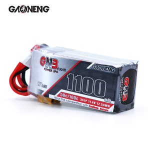 2PCS Gaoneng 1100mAh 11.4V HV 50C 3S LiHV Lipo battery with XT30 Plug for FPV Drone 4 axis UAV RC Quadcopter Helicopter parts