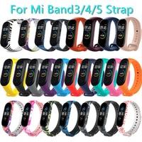 Cinturino per Xiaomi Mi Band 2 3 4 5 6 cinturino in Silicone sostituzione cinturino per Xiaomi Band 2 MiBand 6 5 4 3 cinturino sportivo a colori