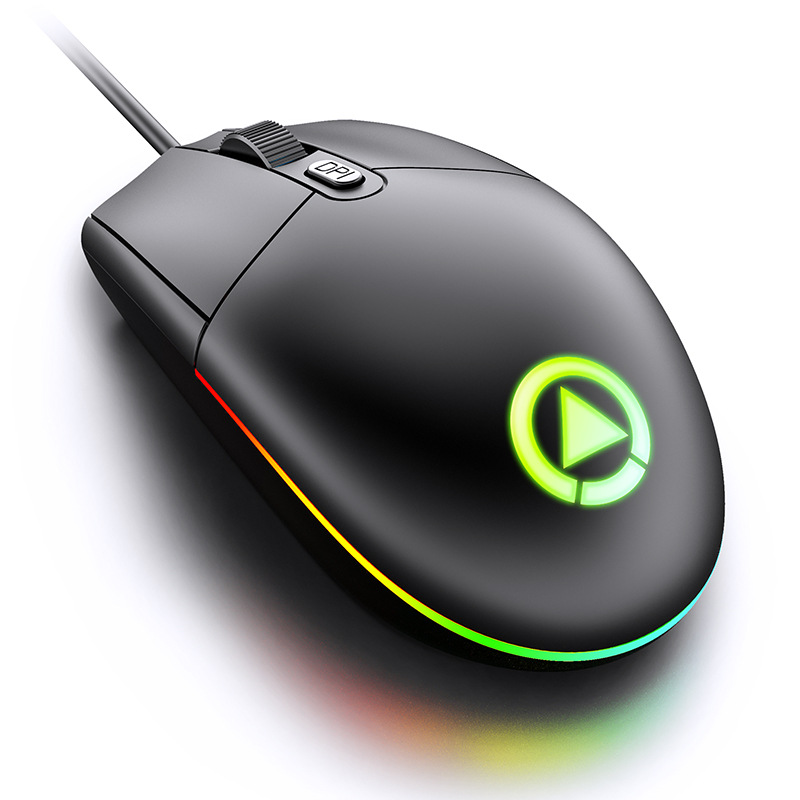 Wired Gaming Mouse 4 Button RGB Backlight 1600 DPI USB Computer Mause Notebook PC Gamer Mice Silent Mouse