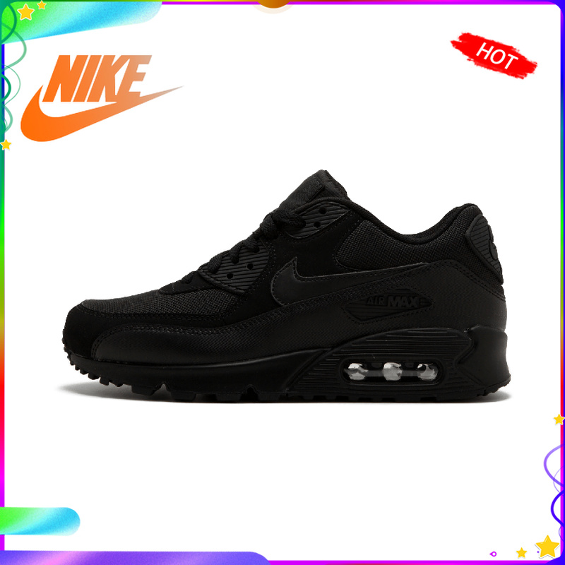Original Authentic NIKE Men's AIR MAX 90 ESSENTIAL Breathable Running Shoes Sneakers Sport Outdoor Comfortable 537384-090
