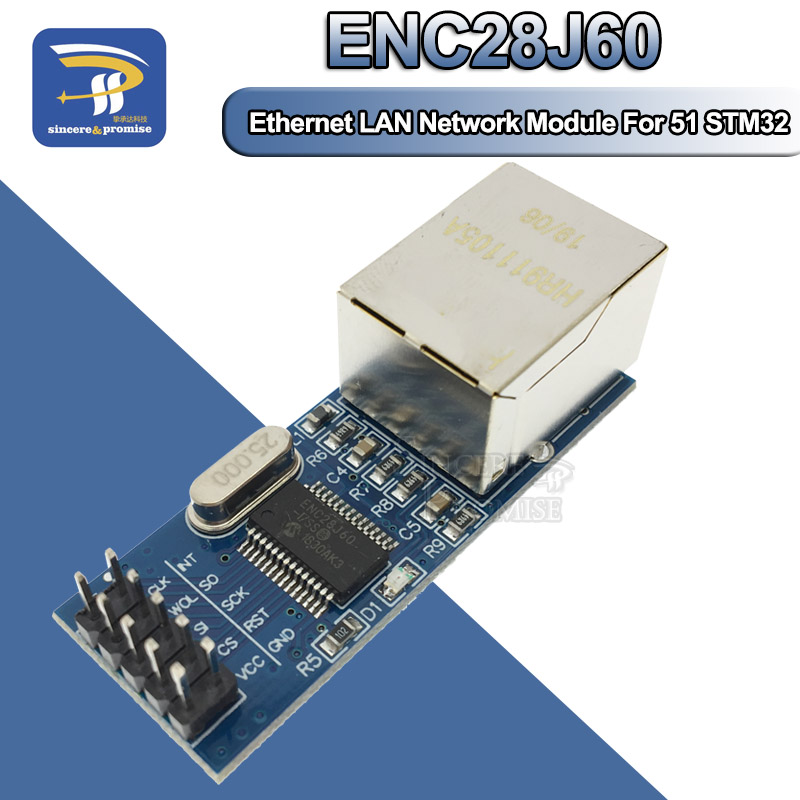 MODULO ETHERNET RETE LAN ENC28J60-28J60 MODULE SHIELD ARDUINO PIC AVR ARM