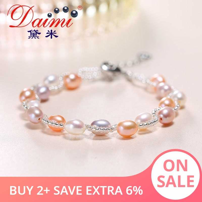 DAIMI Multi 6-7mm Pearl Bracelet Bracelet Bracelets for Women