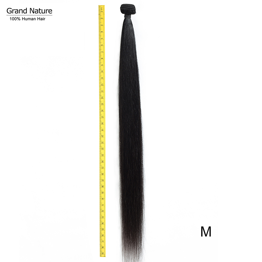 Grand Nature Long Brazilian Hair Bundle Weaves Straight Human Hair Extensions 32