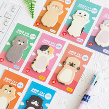 Lovely Cat Sticky Note Cartoon Cute Cat Shape Memo Pads 40pcs/lot