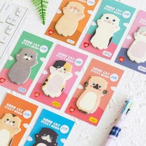 Image 1 - Lovely Cat Sticky Note Cartoon Cute Cat Shape Memo Pads 40pcs/lot