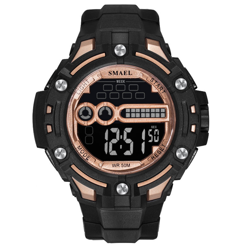 Man Watch 2019 Sport Led Digital Watches SMAEL Men Sports Watches Waterproof relogio masculino White Digital Military Watches