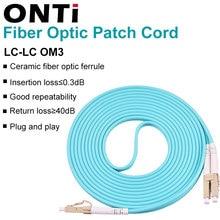 Onti 10g om3 LC LC upc multimodo frente e verso 3.0mm cabo de remendo de fibra ótica LC LC cabo de remendo de fibra óptica cabo de remendo de fibra óptica