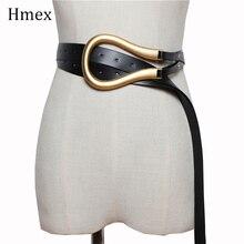 Luxus Marke Designer Frauen Breiten Gürtel Schwarz Leder Taille Gürtel Mode Gold Schnalle Gürtel Für Jeans Kleid Cinturones Para Mujer