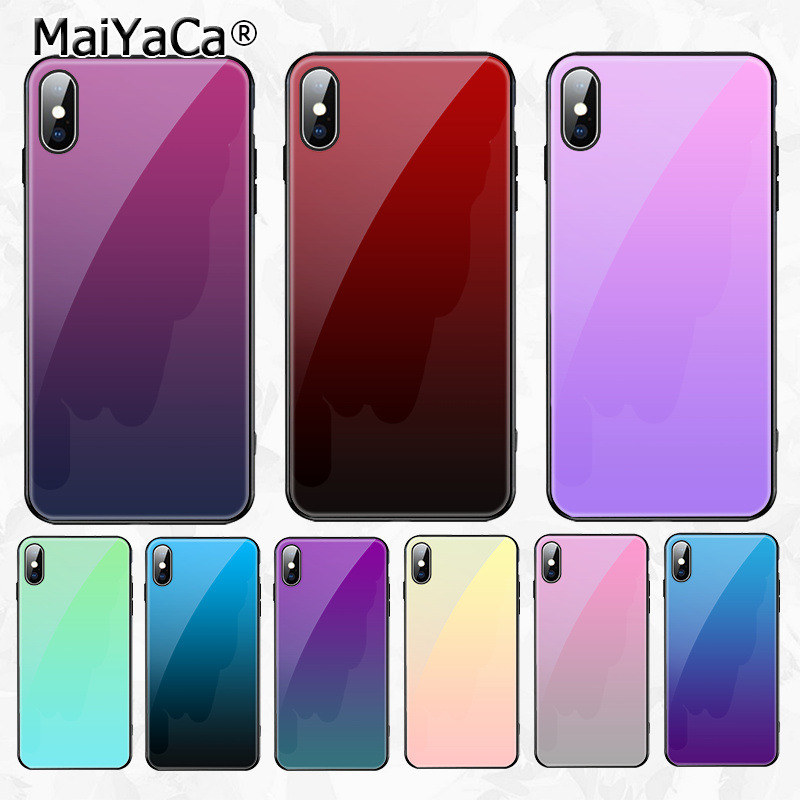 MaiYaCa Gradient Ultra Thin Cartoon Pattern Phone Case for Apple iPhone 8 7 6 6S Plus X XS MAX XR Cover