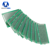 5PCS FR-4 Double Side Prototype PCB 280 Points Hole Tinned Universal Breadboard 4x6 4*6cm 40mmx60mm