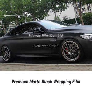 Image 2 - Высококачественная матовая Черная Виниловая пленка, черная оберточная пленка для автомобиля, матовая Черная Виниловая пленка с низким начальным клеем, гарантия качества