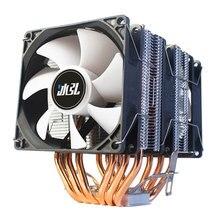 6 tubo de calor cpu cooler ventilador de refrigeração 3pin led 2000rpm para lga 115x1356 1366 fm2 am3 am4 x79 x99 2011 ventiladores processador cpu dissipador de calor