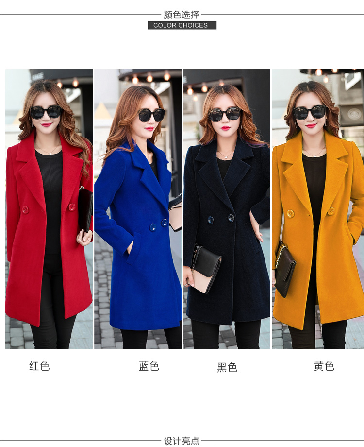 YICIYA Winter autumn Coat Women Wool Jacket Long Oversized Coats Plus Size Large Black Blend Woolen Warm Outerwear 2019 Clothing 5