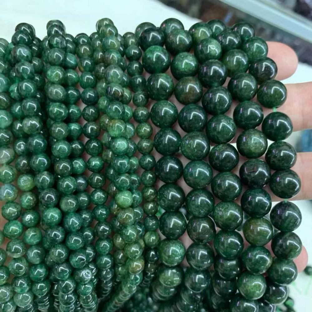 6mm 10mm African Jade Stone Beads Natural Gemstone Beads DIY Loose Beads For Jewelry Making Strand 15