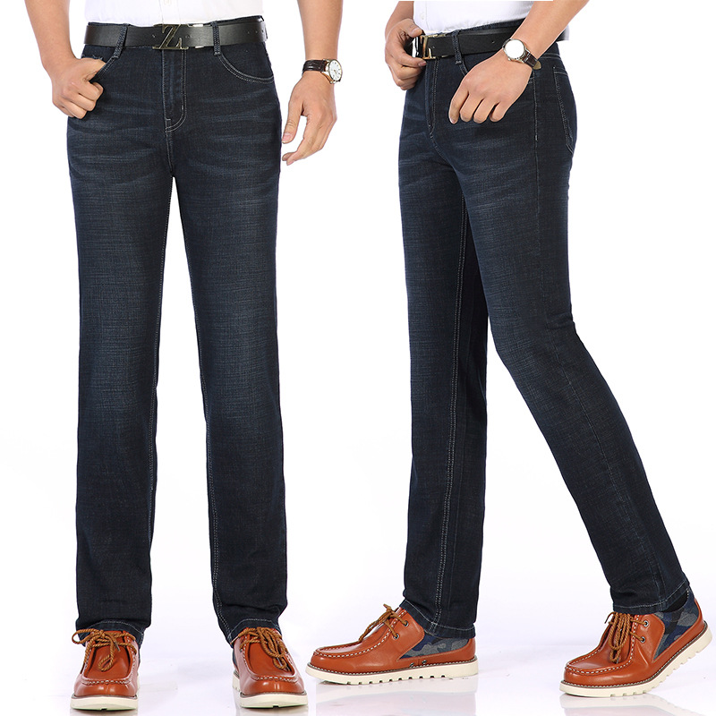 Middle-aged Men Dad Casual Long Pants 40 New Style Jeans 35 Dad 30 High-waisted Pants 45