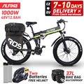 (ЕС аист) алфина 2021 Новый складной электрический велосипед 1000W 48V горный велосипед 50 км/ч Электрический велосипед 26 Дюймов 4,0 жира шины электр...