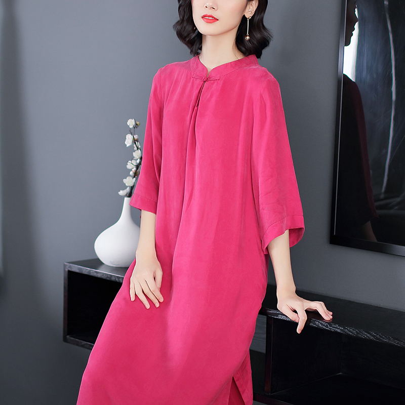 2020 Chinese Dress Women Long Sleeve Oriental Style Dresses Chinese Bride Vintage Traditional Cheongsam Dress Long Qipao Plus