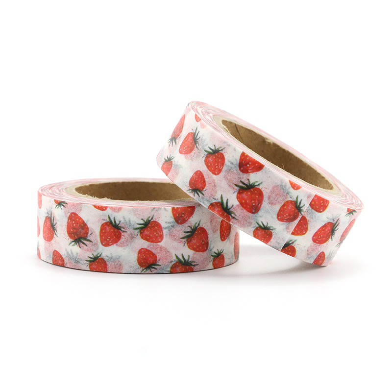 Top sales Fresh Floral cute animal design Washi Tape Strawberry Sticky Adhesive Tape Various Patterns Masking Tape in Office Adhesive Tape from Office School Supplies