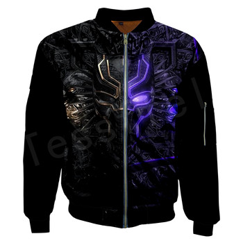 Tessffel Unisex Tracksuit Hot movie Marvel Black Panther The Avengers Men/Women 3DPrint Zipper/Hoodies/Hoodie/Bomber Jackets s-2