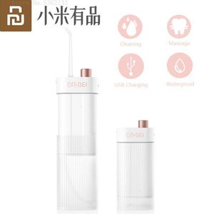 Image 1 - Youpin taşınabilir sulu diş ipi Oral Irrigator şarj edilebilir su geçirmez diş ağız temizleyici elektrikli su kürdan temizleyici