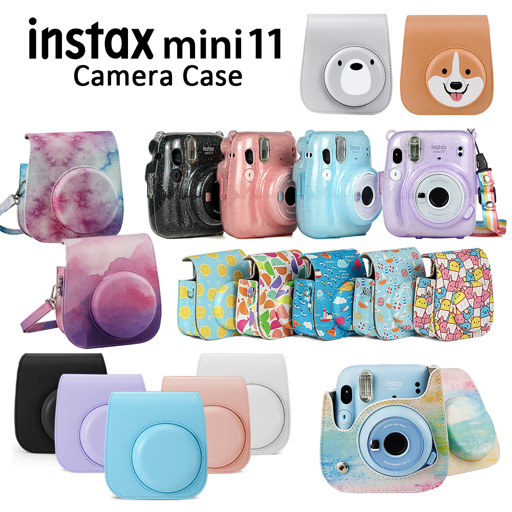 For Fujifilm Instax Mini 11 Instant Film Camera PU Leather Bag Case Cover Shell