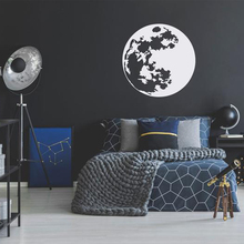Large Golden Moon Wall Stickers Vinyl Decal For Kids Room Decor Sticker For Wall Baby Room Moon Wall Decals Wallpaper Mural new tom cat jerry mouse wall art decal pvc material stickers wall decals for kids room vinyl wall sticker mural wallpaper