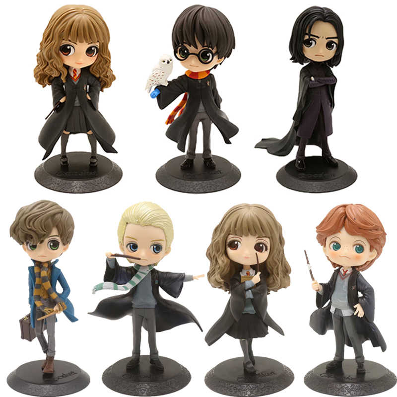 QPosket Grandi Occhi Potter Piton Granger Weasley Malfoy Newt Action Figure Toy Doll Regalo per il Natale