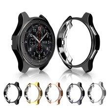 Chapeamento caso protetor para samsung galaxy assista 46mm 42mm protetor quadro capa macia tpu escudo para samsung 46/42 relógio inteligente