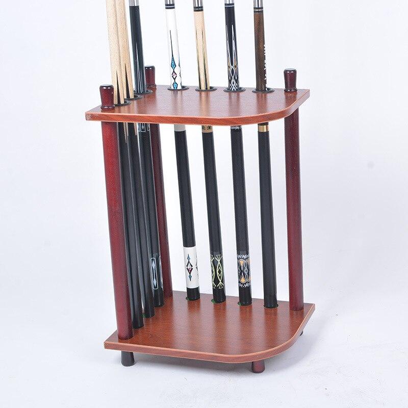 Снукер бильярдный деревянный 7 кия стойка напольная подставка держатель