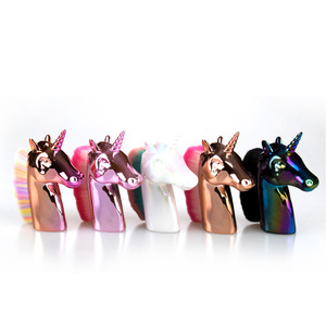 Makeup brushes unicorn powder