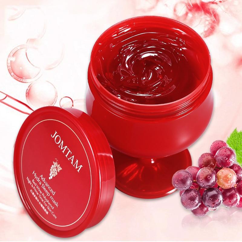 Polyphenol Face Cream Sleep Night Gel Mask Hydrating Red Wine Moisturizing Nourishing Skin Care Refreshing WhiteningFor Women M