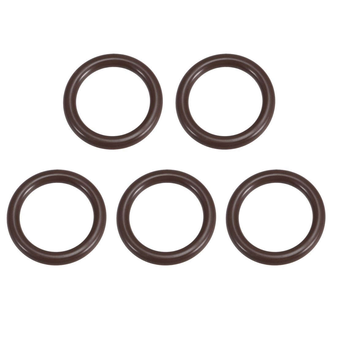 uxcell 5 Pcs Fluororubber Gasket Sanitary Tri Clamp Washer 39mm x 28.4mm O-Ring