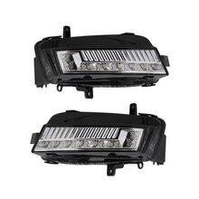 цена на Auto Front Fog Light Lamp Assembly with LED Bulb for VW Volkswagen Golf MK7 2013 2014 2015 2016 2017 5GG941661 5GG941662