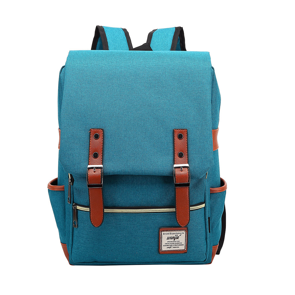 Fashion Vintage Laptop Backpack Women Canvas Bags Men canvas Travel Leisure Backpacks Retro Casual Bag School Bags For Teenager#