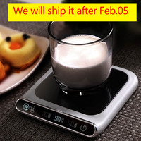 5V Cup Heater Smart Thermostatic Hot Tea Makers 3 Gear USB Charge Heating Coaster Desktop Heater for Coffee Milk Tea Warmer Pad|Hot Tea Makers| |  -