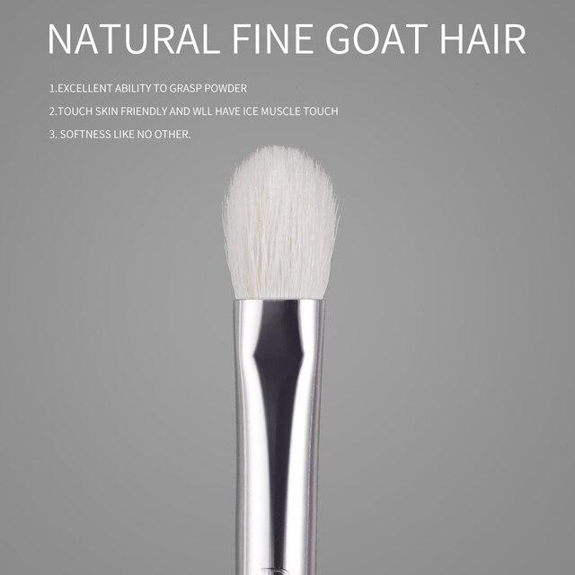 BEILI 8pcs Classic Black Pro makeup brushes Goat synthetic Hair Eye shadow Brow Blending smoky Makeup Brush Set 2