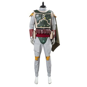 Star Cosplay Wars Boba Fett Cosplay Costume Men Uniform Outfits Halloween Carnival Suit Costumes Custom Made 2