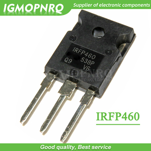 Image 1 - 10pcs IRFP460PBF IRFP460 500V N Channel MOSFET TO 247 New Original Free Shipping