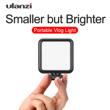 Ulanzi VL49 מיני LED וידאו אור צילום 6W Dimmable CRI95 + עם קר נעל עבור Canon Nikon Sony DSLR מצלמה Vlog למלא אור