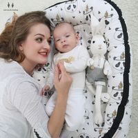 Portable Cotton Baby Nest Bed Crib Nest Portable Crib Sleeping Travel Bed Infant Toddler Cotton Cradle For Newborn Baby Bassinet