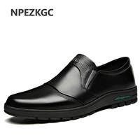 Men's Shoes Comfortable Men Casual Shoes Genuine Leather Breathable Loafers Slip on Footwear Walking Driving Shoes