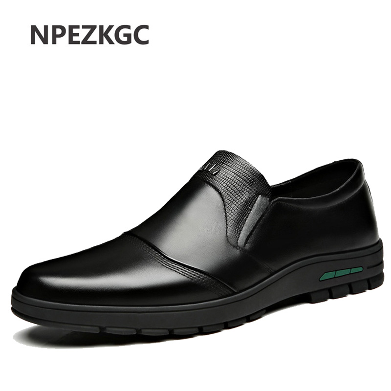 Men's Shoes Comfortable Men Casual Shoes Genuine Leather Breathable Loafers Slip-on Footwear Walking Driving Shoes