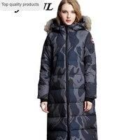 2020 Women Winter Down Coat Large Size Long Down Jacket Women Thicken Hooded Fur Collar Coat Fashion Warm Couple Outerwear CW055