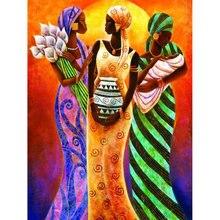 Pdmdog 5d diy Алмазная вышивка три индийские женские Алмазные