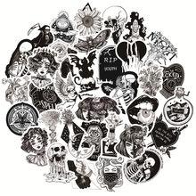 50pcs Goth gothique sorcière Goth autocollants pour cahiers papeterie Adesivi Scrapbooking squelette autocollant Vintage artisanat fournitures