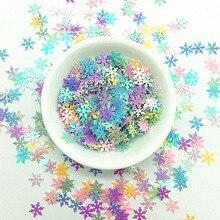 10 мм Снежинка блестки Craft Mix макароны Цвета с цветочным рисунком с блестками и пайетками для рождественской вечеринки декор DIY ручной работы аксессуары 10g