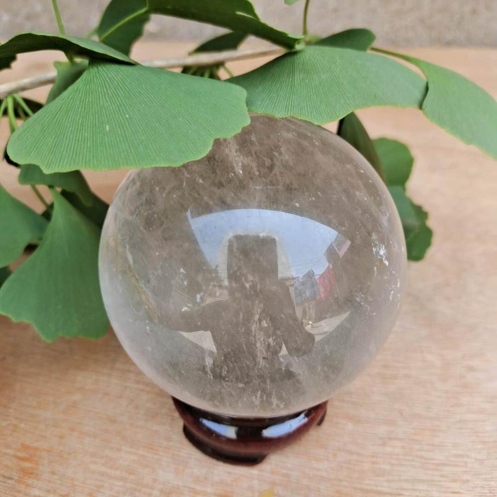 Прозрачный натуральный кварцевый хрустальный шар для украшения дома ремесло