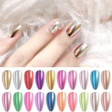 Порошок для ногтей лазерный блеск пигмент Хромовый порошок Ослепительная